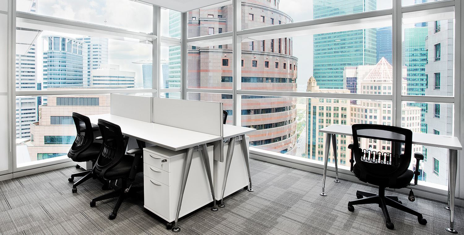 hot desk office space raffles place